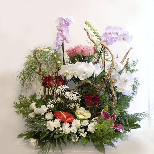 centro de flores diferente