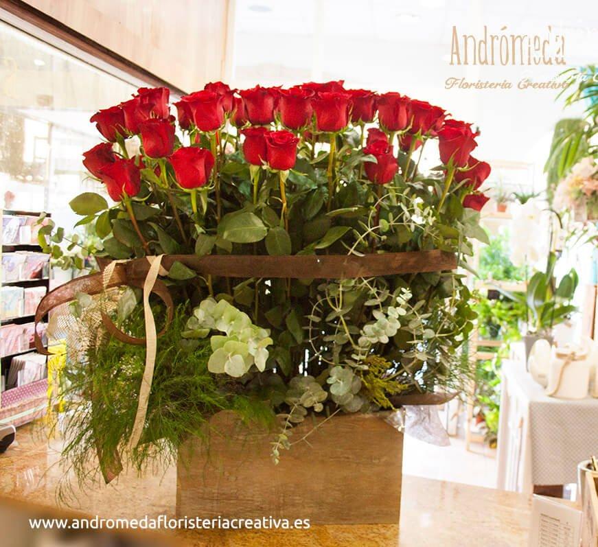centros de rosas rojas