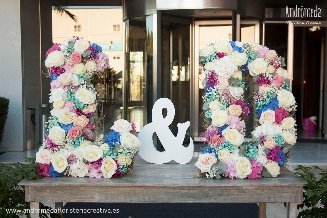 letras de flores naturales
