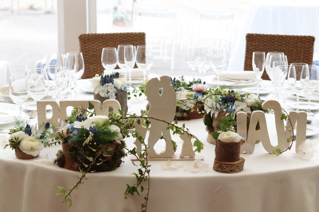 decoracion mesa nupcial