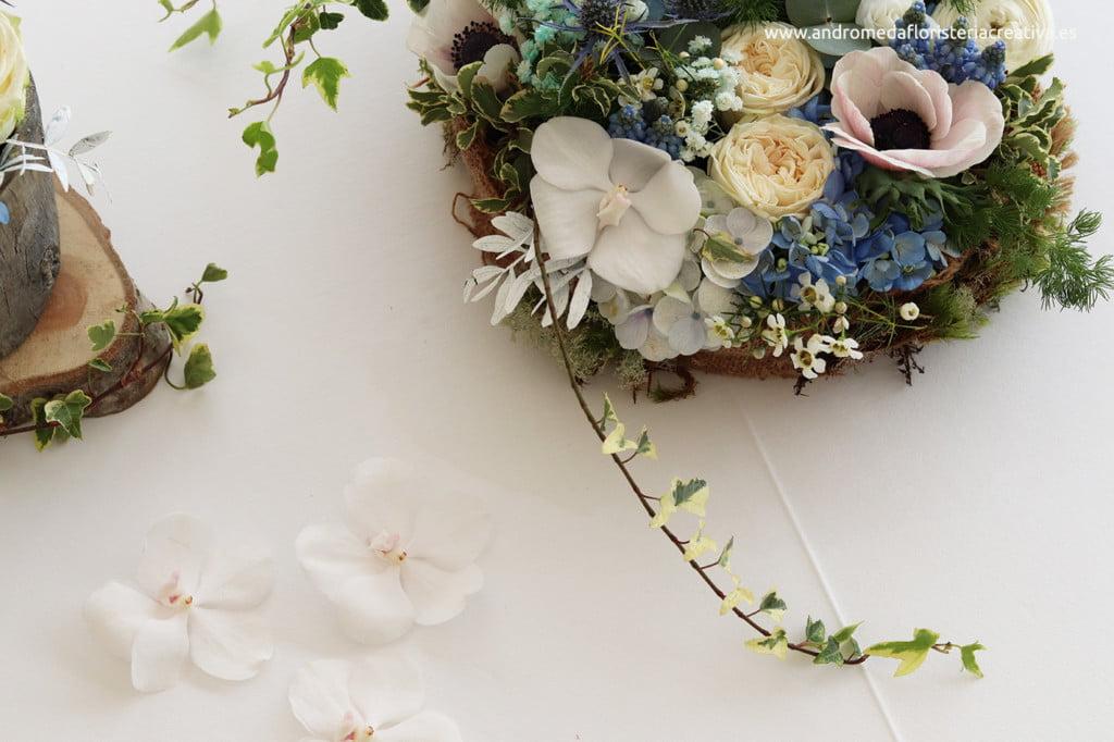 detalle centro de flores