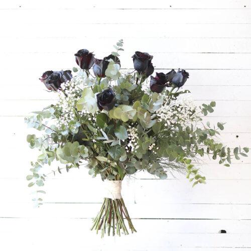 ramo rosas negras