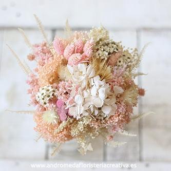 Sweet. Ramo de novia tonos rosa pastel