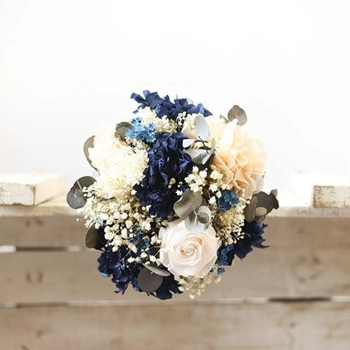 very blue ramo de novia